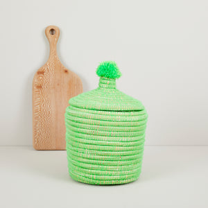 Neon storage pot with pom pom — Ordinary Luminary
