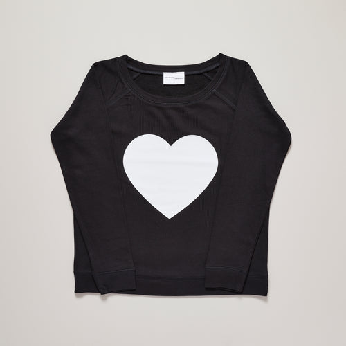 Heart sweater in monochrome, premium organic cotton and limited edition —  Ordinary Luminary
