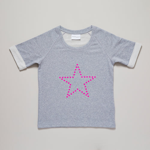 Star sweatshirt in neon pink and grey — Ordinary Luminary
