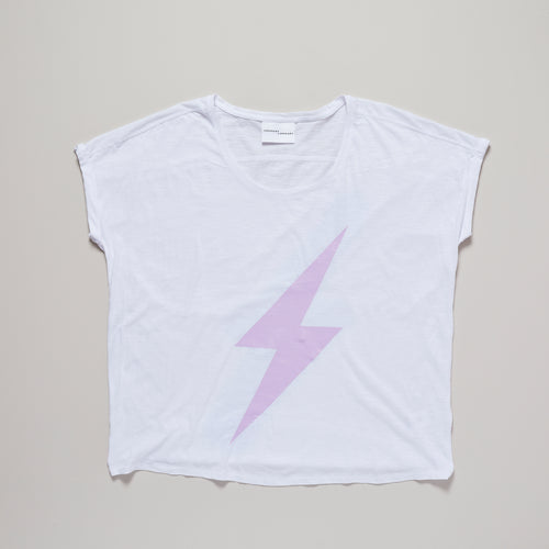 Womens lightning bolt organic cotton t-shirt — Ordinary Luminary