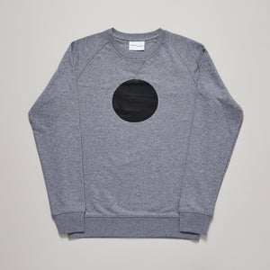 Circle sweater in black on grey organic cotton, limited edition  — Ordinary Luminary