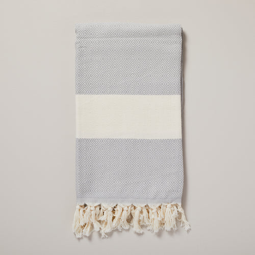Swedish, grey diamond hammam towel/pestemal — Ordinary Luminary