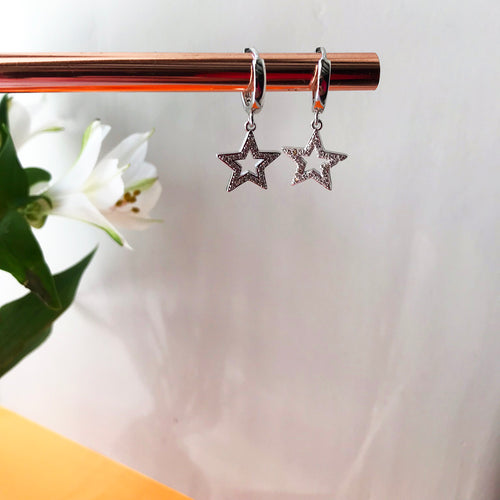 Sterling silver star hoops — Ordinary Luminary