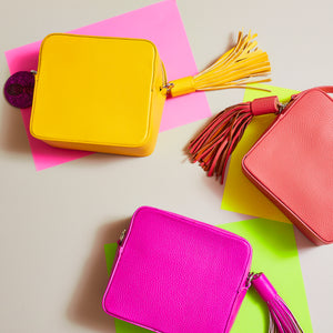 bright yellow bag bright pink bag cross body — Ordinary Luminary