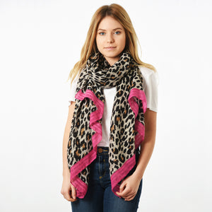 Pink leopard print scarf — Ordinary Luminary