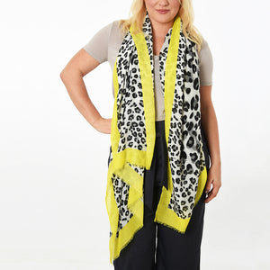 Neon yellow leopard print scarf — Ordinary Luminary