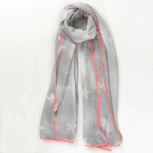 Star scarf in neon pink and grey — Ordinary Luminary