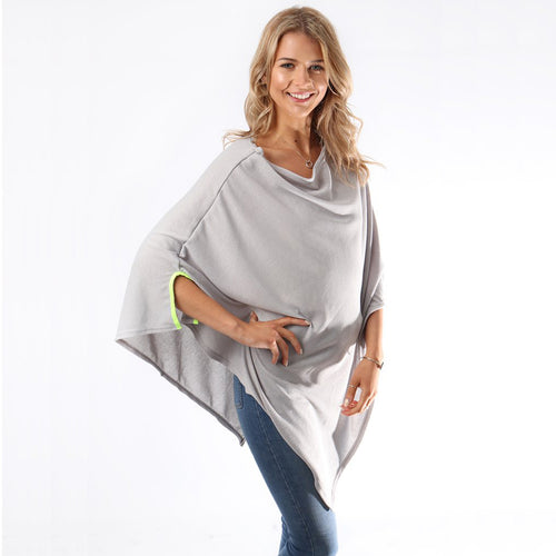 Neon and grey poncho — Ordinary Luminary