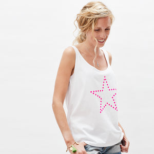 Womens star vest — organic cotton, limited edition — Ordinary Luminary