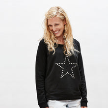 Star sweater with metallic silver star on premium organic cotton — Ordinary Luminary