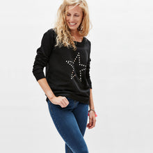 Womens star sweat in black and metallic silver — Ordinary Luminary