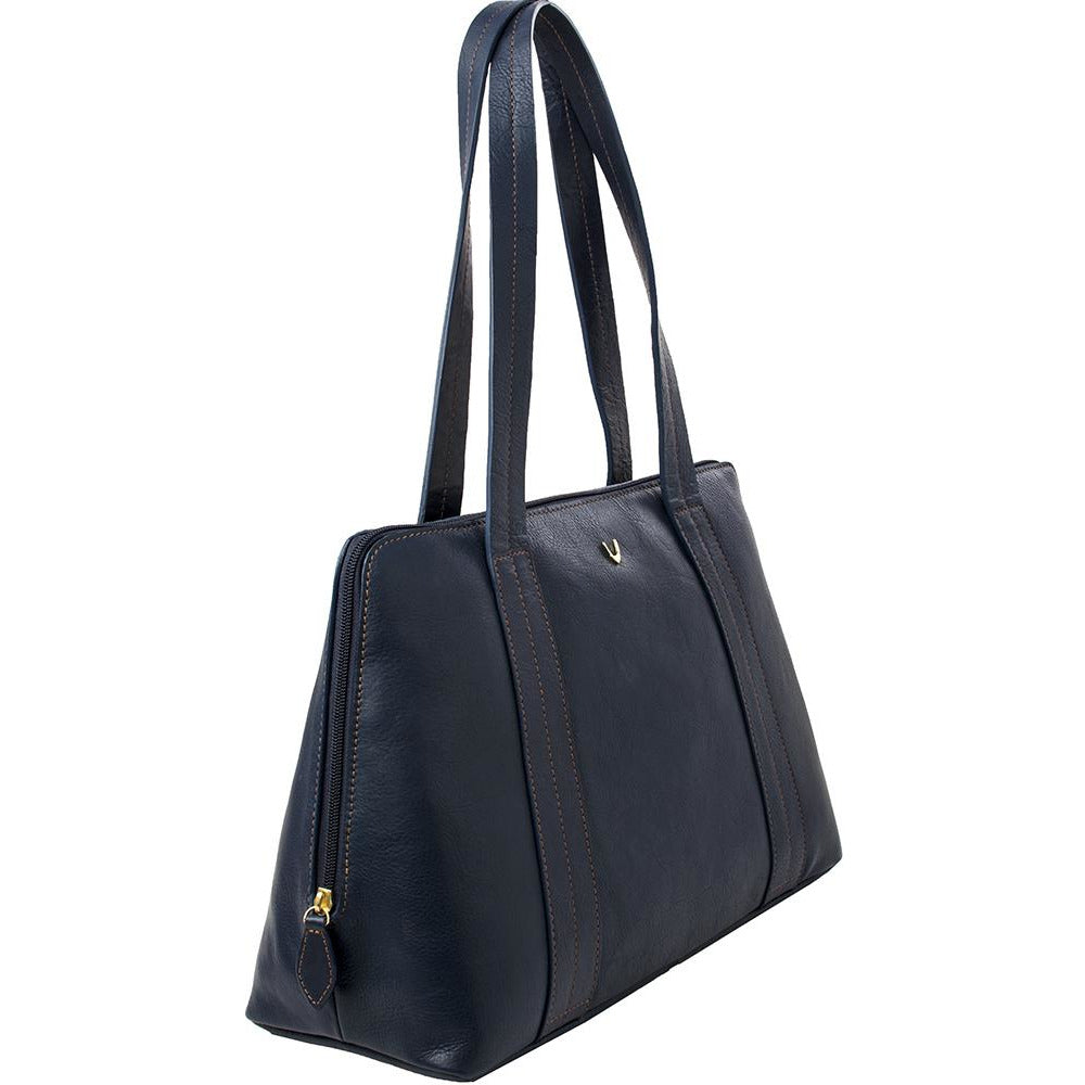 Cery Leather Multi-Compartment Tote - Blue - Miraposa
