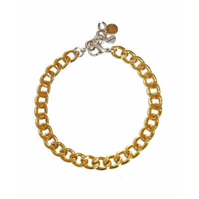 Gold Chain Choker With Charms - Miraposa