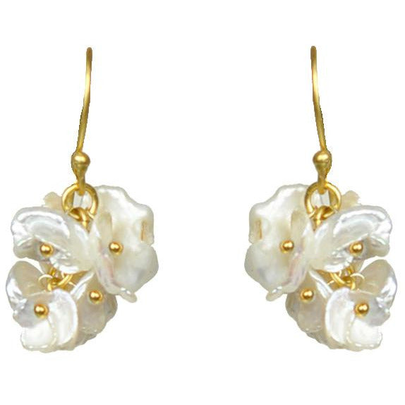 Short Keshi Pearl Cluster Earrings - Miraposa