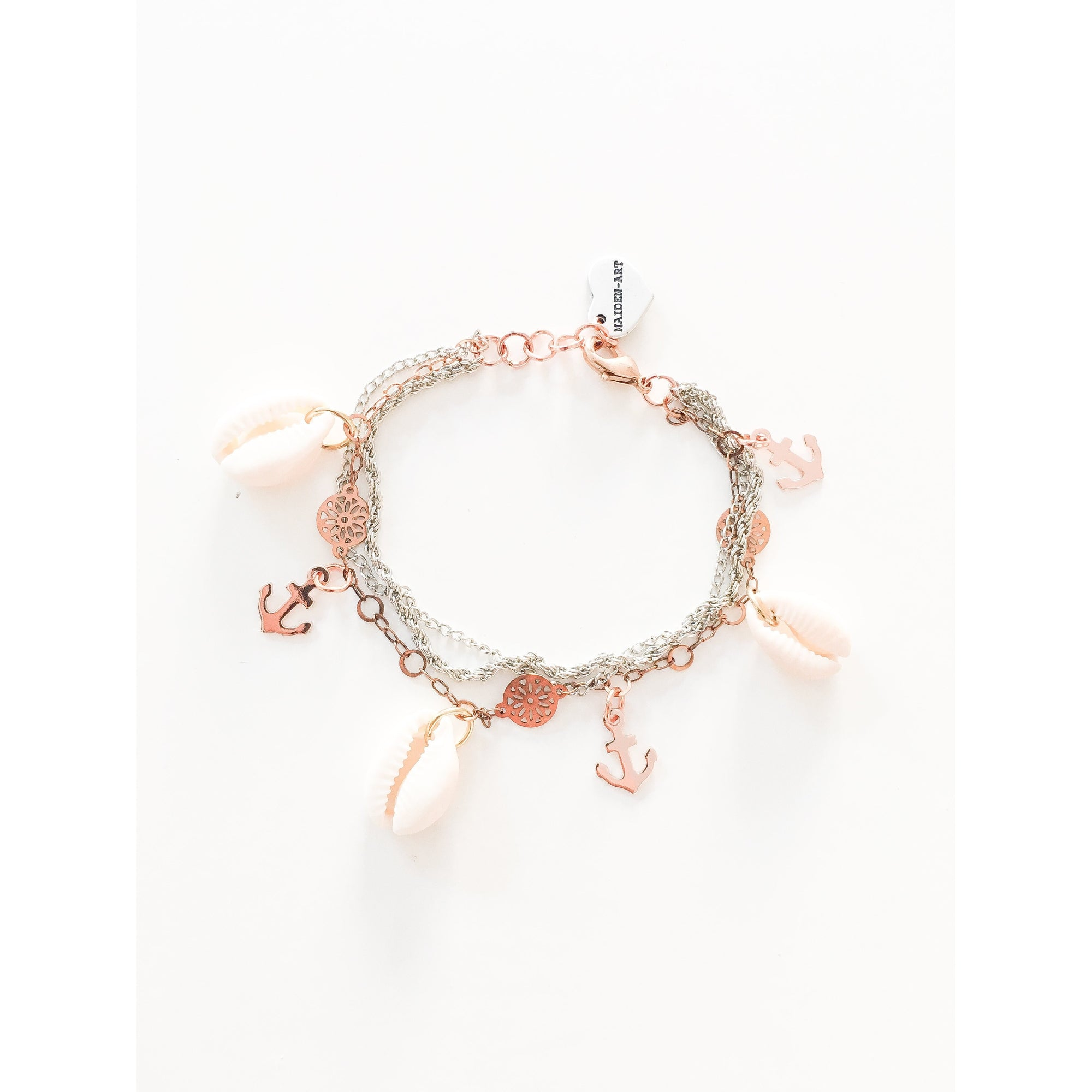 Seashells and Anchor Bracelet - Miraposa