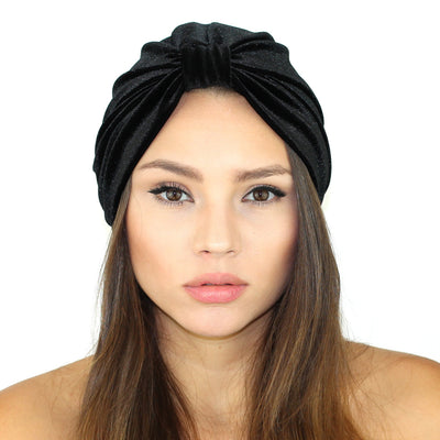 Stretch Velvet Turban - Miraposa