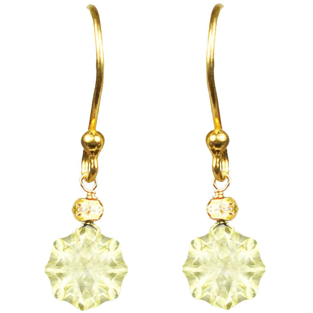Lemon Citrine Vermeil Drop Earrings - Miraposa