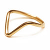 V-Ring - Gold, Sterling Silver - Miraposa
