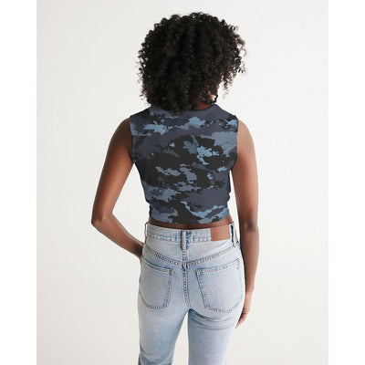 Women's Coast Camo Twist-Front Breathable Tank - Miraposa