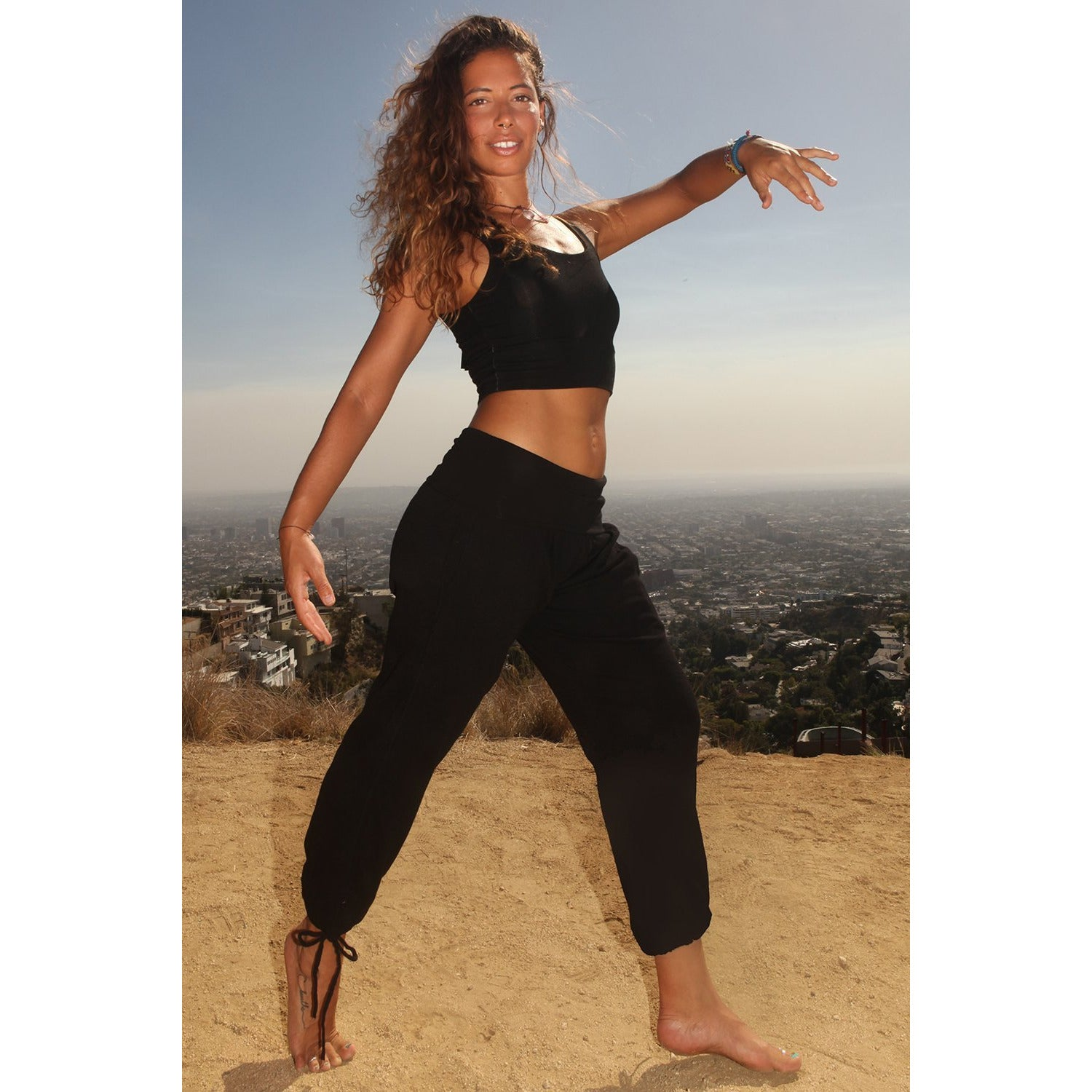 Kung Fu Women's Yoga Pants - Organic Cotton Bamboo - Miraposa