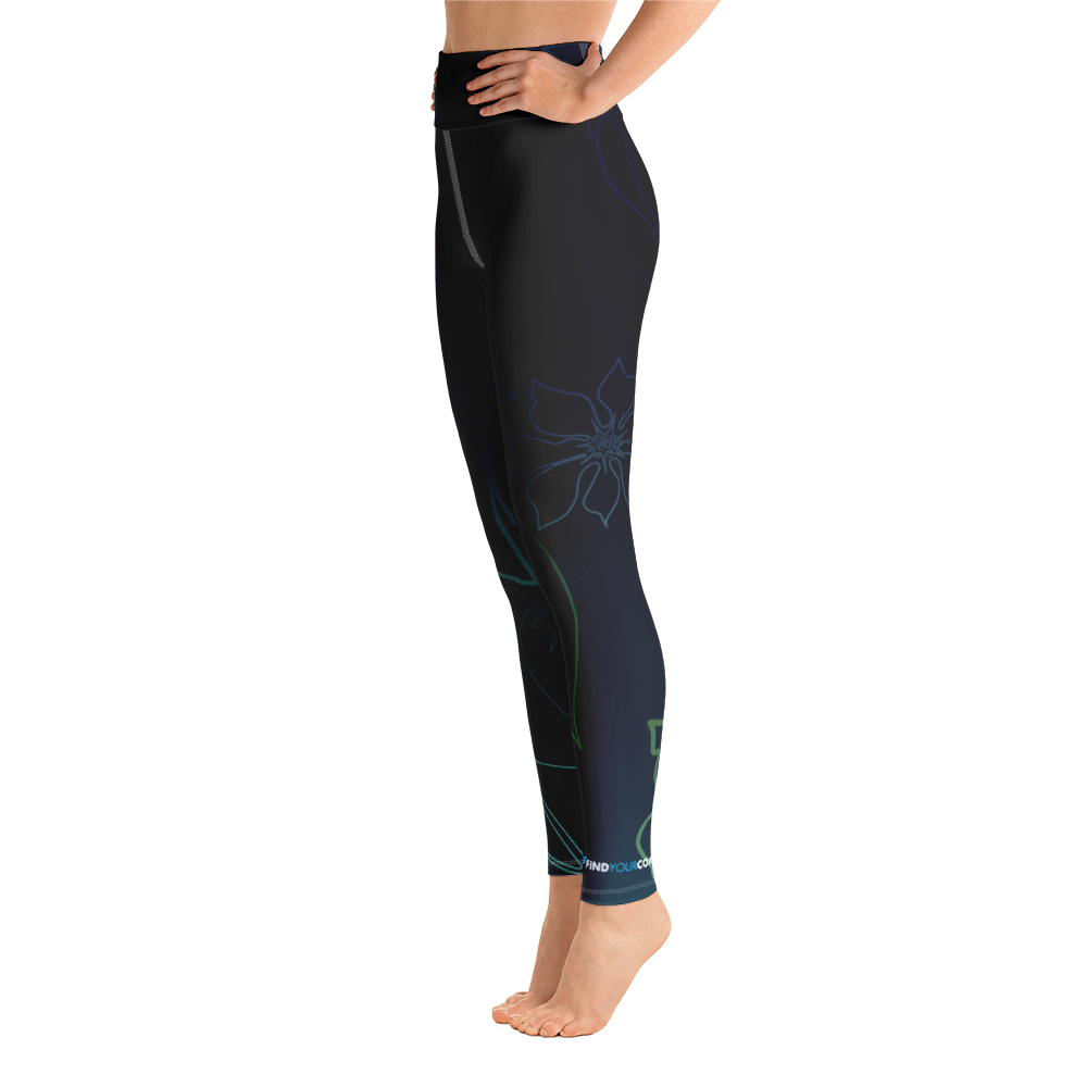 Women's Active Comfort Sport Wild Side Leggings - Miraposa