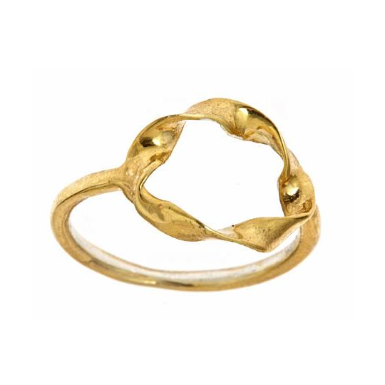 Twisted Circle Ring - Gold