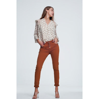 Caldera Jeans With Button Closure - Miraposa