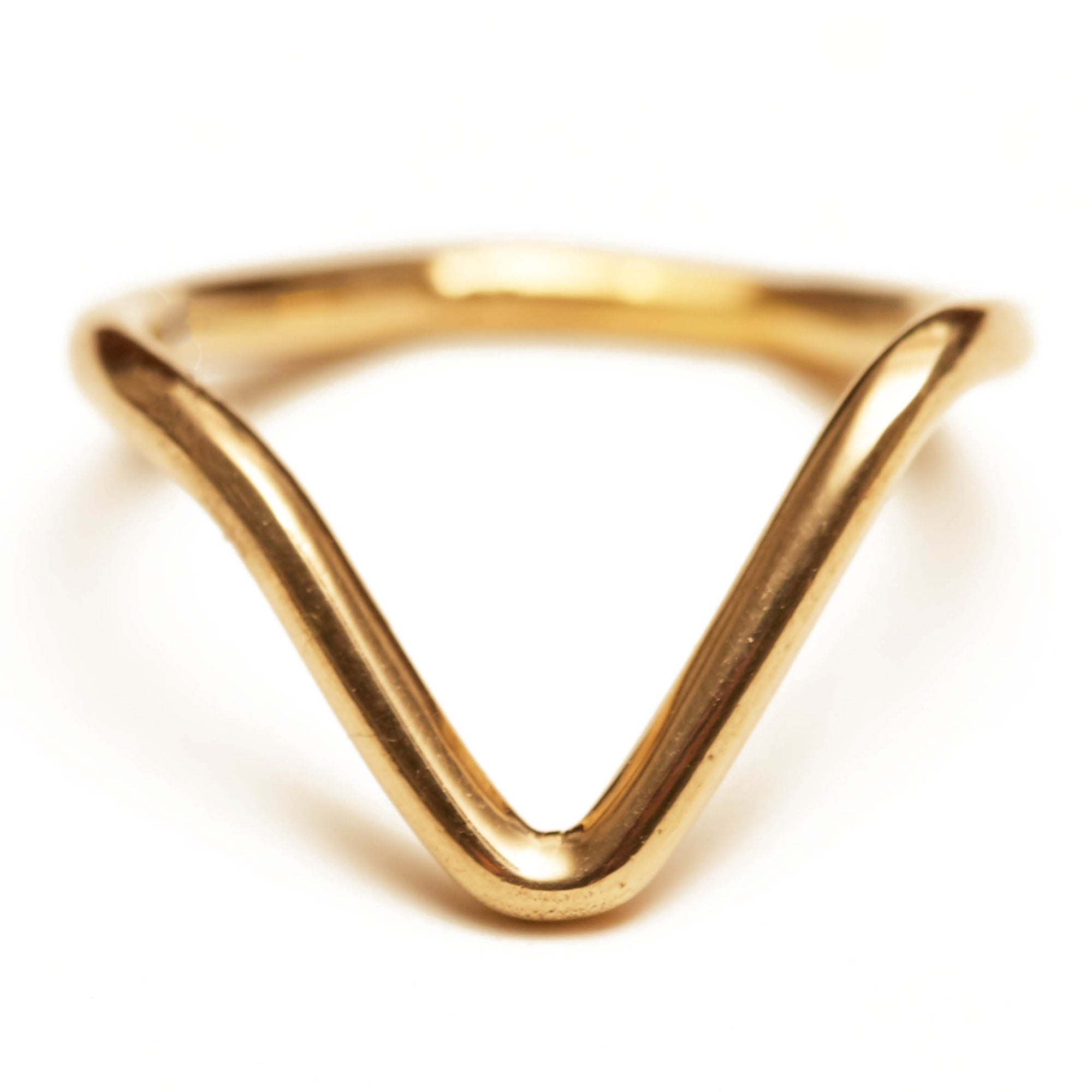 V-Ring - Gold, Sterling Silver