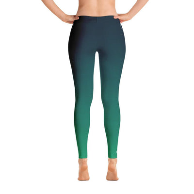 All Day Comfort Blue Coast Full Length Leggings - Miraposa