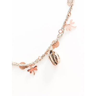 Seashells and Dragonfly Necklace - Miraposa