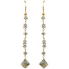 Smoky Topaz Linear Vermeil Earrings - Miraposa