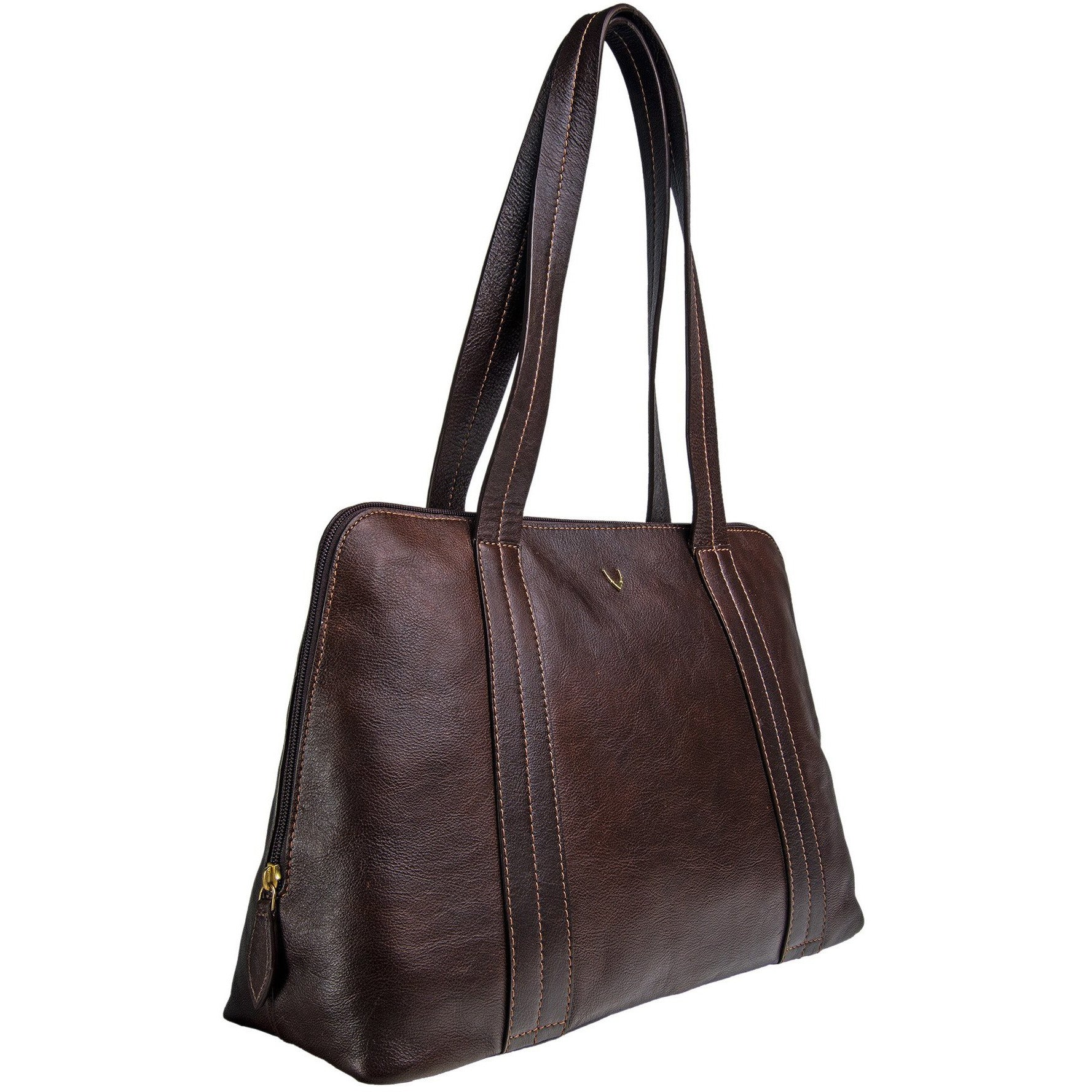 Cery Leather Multi-Compartment Tote - Black - Miraposa