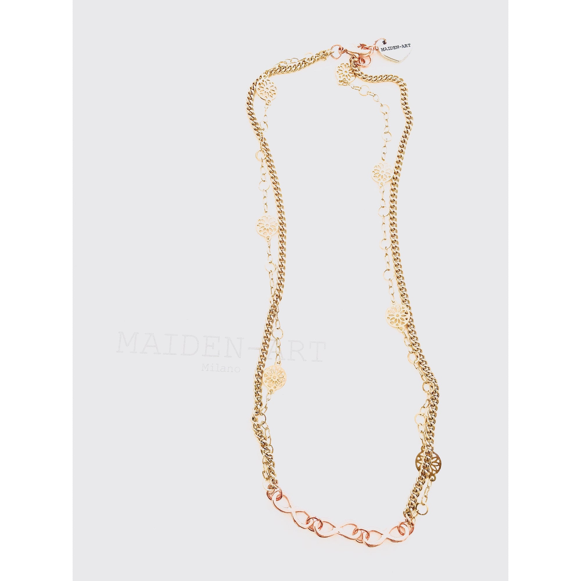 18kt Gold Plated Infinity Necklace - Rose Gold - Miraposa