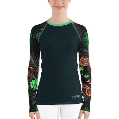 Women's Veronica Sleeve Sea Skinz Performance Rash Guard UPF 40+ - Miraposa