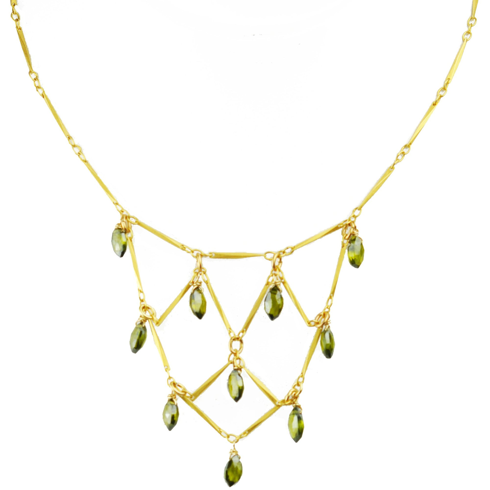Green Tourmaline Bib Necklace - Miraposa