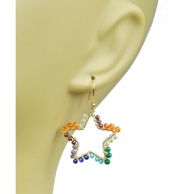 Chakra Star and Moon Vermeil Earrings - Miraposa