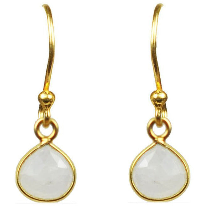 Moonstone Bezel Vermeil Earrings - Miraposa