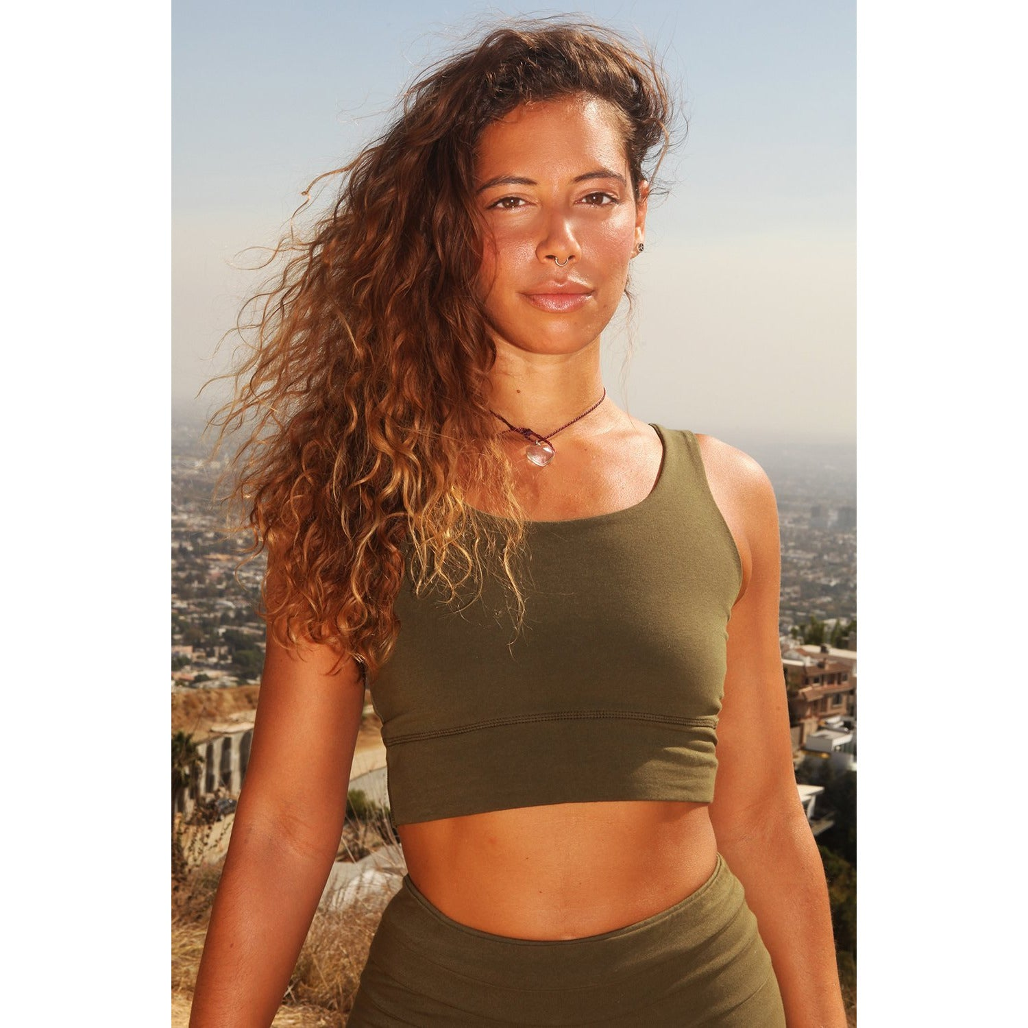 Yoga Crop Top Tri-Star - Organic Cotton - Miraposa