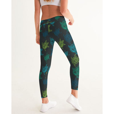 Women's Active Comfort Sea Turtle Sport Yoga Pant - Miraposa