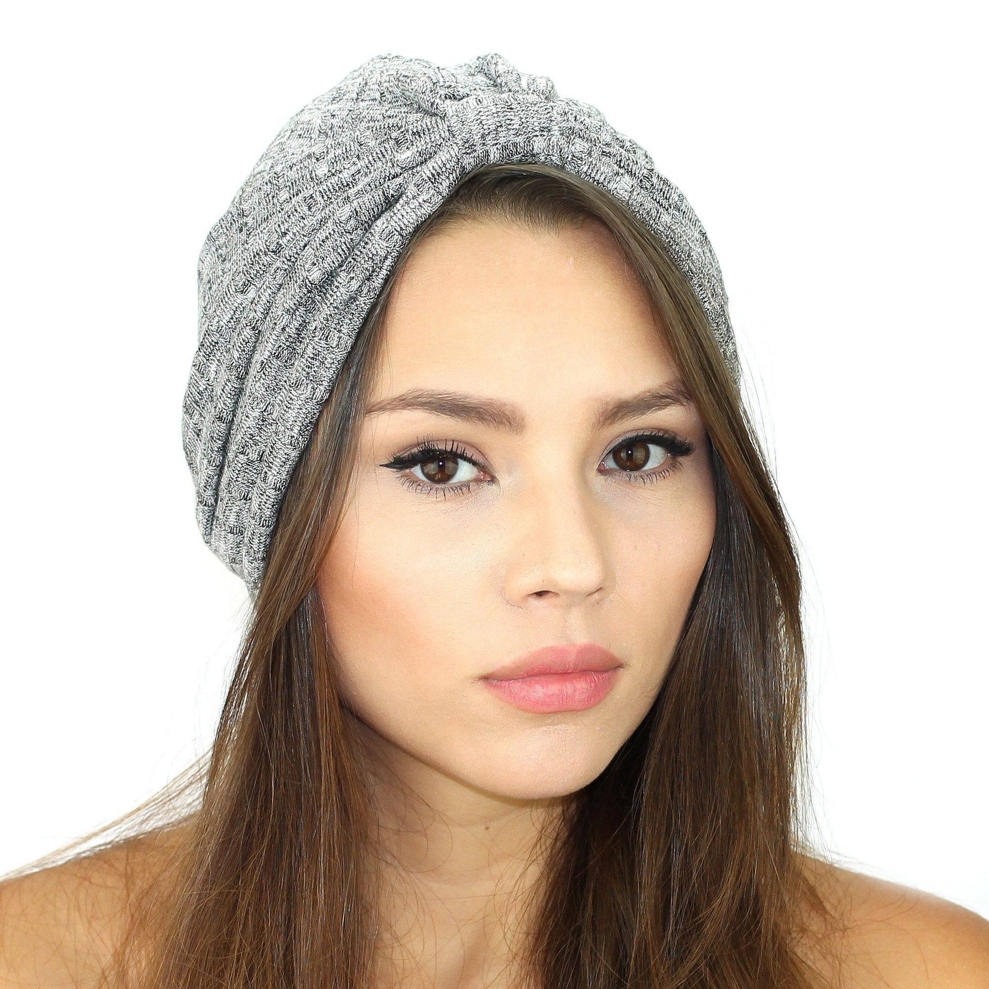 Rib Knit Sweater Turban - Miraposa
