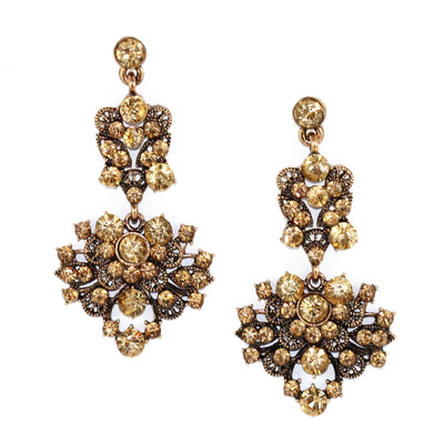 Floral Gem Earrings - Miraposa