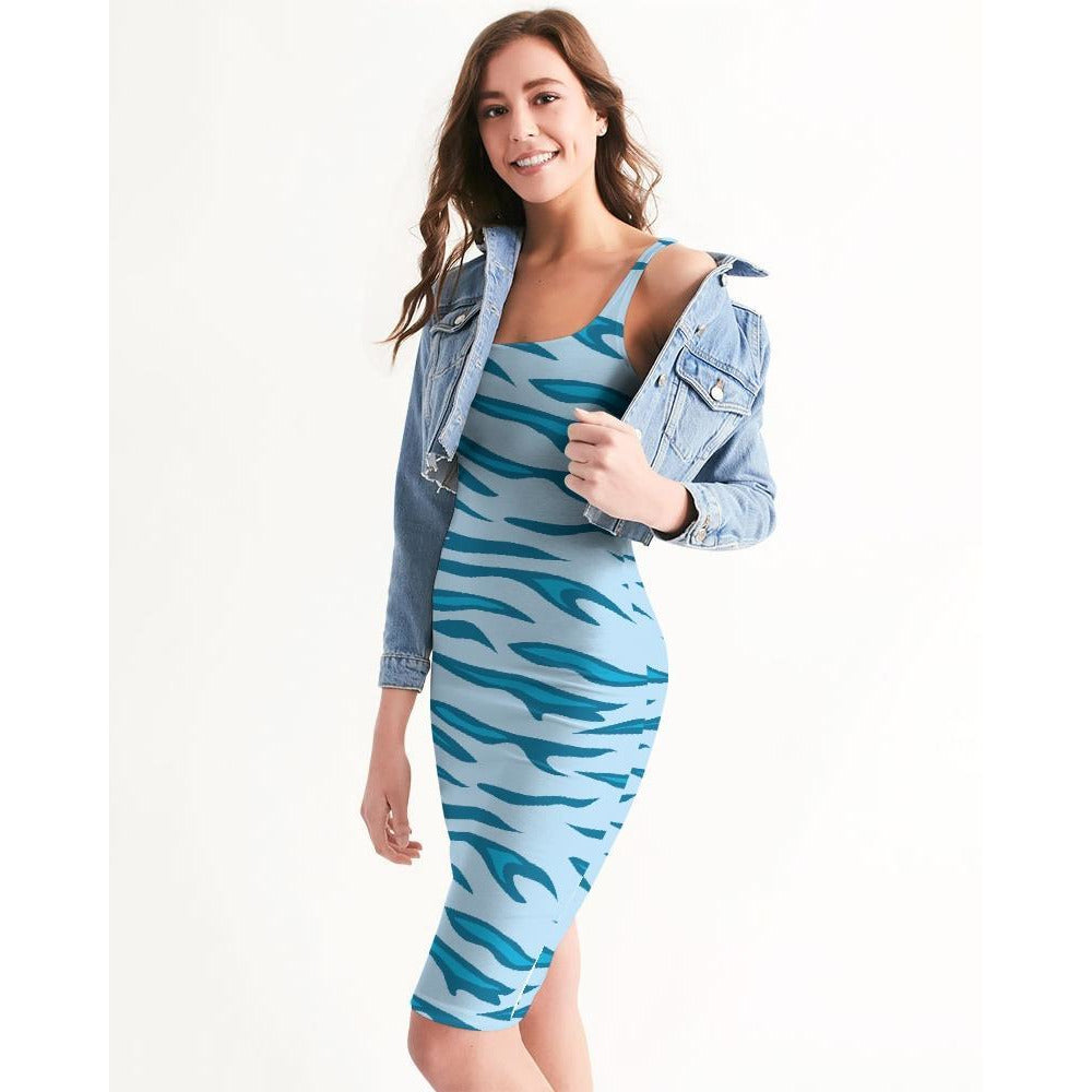 Women's Energizer Casual and Fun Midi Bodycon Dress - Miraposa