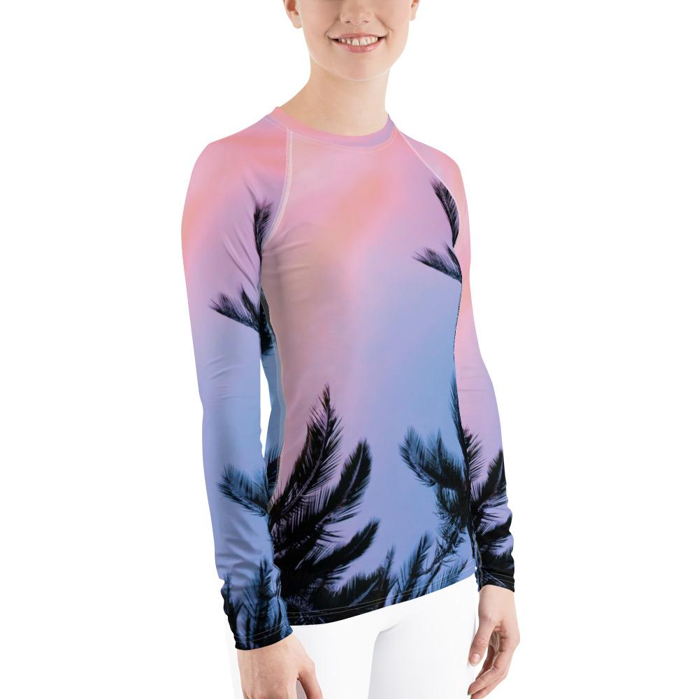 Women's Sunset Surf Performance Rash Guard UPF 40+ - Miraposa