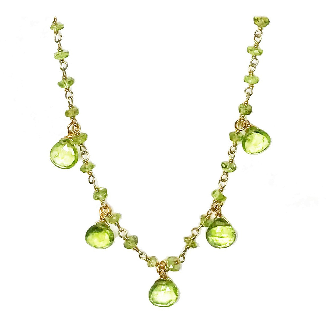 Peridot Droplet Vermeil Necklace