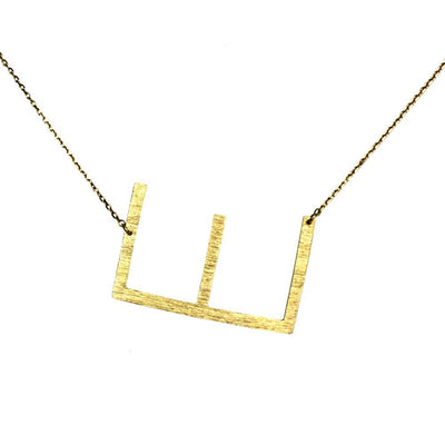 Monogram Collection Gold Initial Necklace - Miraposa