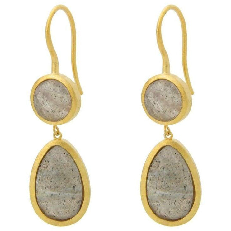 Double Drop Labradorite Earrings - Miraposa
