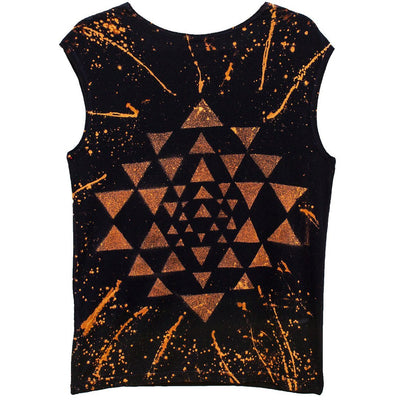 Star Yantra Yoga Tee Black - Organic Cotton - Miraposa
