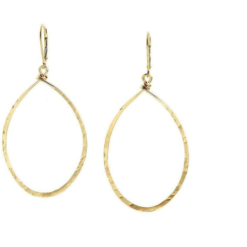 Hanna Hammered Hoops