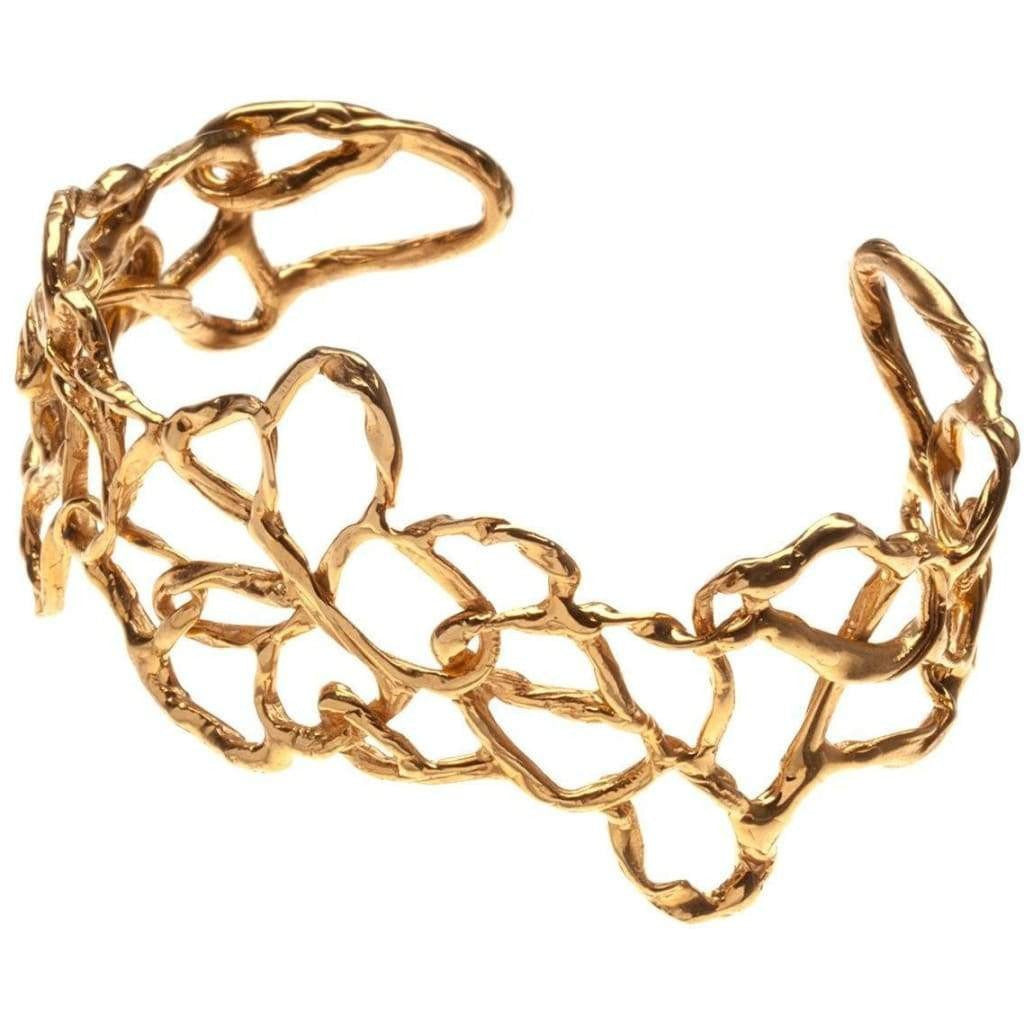 Interwoven Cuff - 18k Gold Plated - Miraposa