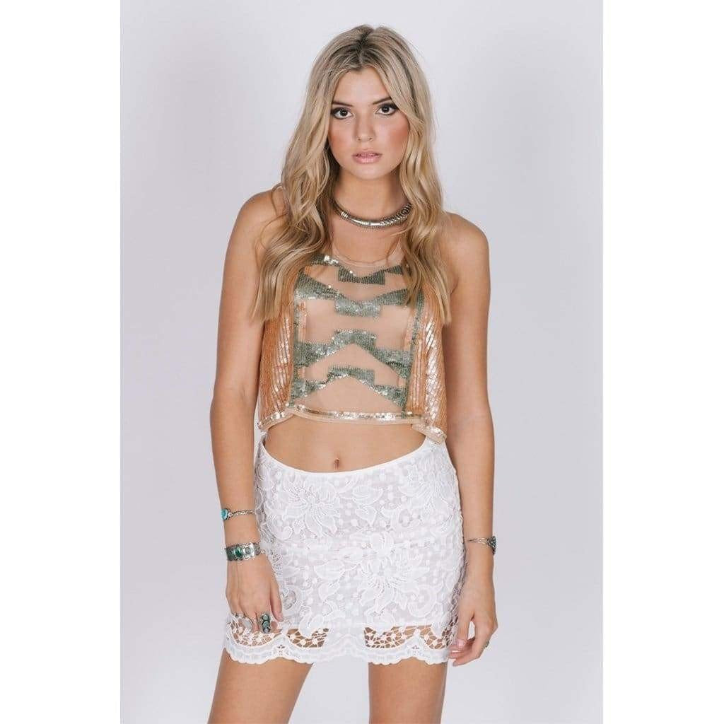 Lavish In Lace Mini Skirt